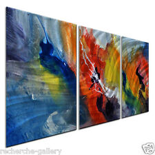 Metal Wall Art Abstract Contemporary Modern Sculpture Painting Home Decor