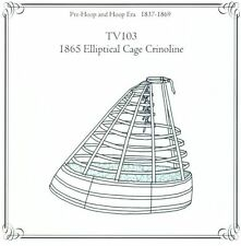 Sewing Pattern for Victorian Elliptical Cage Crinoline TV103 multi sizes