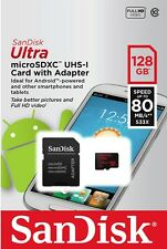 Micro SD Card Sandisk 128GB SDXC Class 10 Extreme Phone Camera Memory Samsung