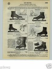 1932 PAPER AD Nestor Johnson North Star Hockey Ice Skates Flyers Union