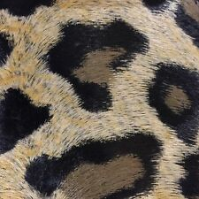 SUPERB QUALITY faux leopard skin/fur light upholstery cushion fabric - 1 metre