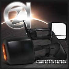 07-13 Toyota Tundra Black Power Heated LED Signal Towing Side Mirrors Pair