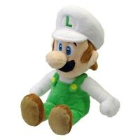 "Nintendo Sanei Super Mario Bros Soft Plush Toy Figure 8"" Fire Luigi *New* NWT"