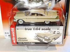 AUTO WORLD BUCKSKIN BEIGE 1958 PLYMOUTH FURY REL 5B PREMIUM CLASSIC CHROME LTD