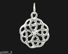 Celtic knot ROUND Charm Argento 925 charmmakers 3D