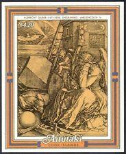 Aitutaki 1986 Halley's Comet/Astronomy/Space/Durer/Art/Painting 1v m/s (n13164)