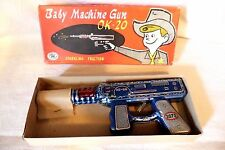 VINTAGE 1950's OK-20 TIN FRICTION MACHINE GUN 3073 Made in JAPAN MT Masudaya