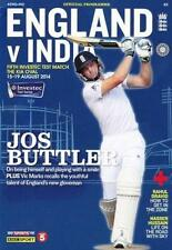 * 2014 - ENGLAND v INDIA 5th TEST (THE OVAL 15-19th August) CRICKET PROGRAMME *