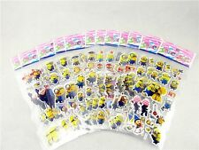 Kids Favorite Despicable Me Minions Children Stereoscopic Stickers Lot Of 12
