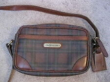 Vintage RALPH LAUREN Brown Tartan Plaid Shoulder CrossBody Bag - NICE