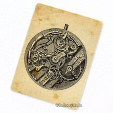 Pocket Watch Movement Deco Magnet, Decorative Fridge Antique Illustration Analog