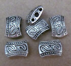 20pc Retro Tibetan Silver 3 Holes Carved Spacer Beads Accessories B058P