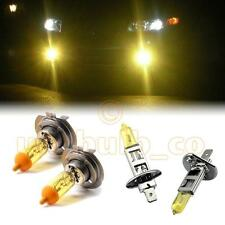 YELLOW XENON LOW + HIGH BEAM BULBS FOR Peugeot 407 MODELS H1H7