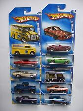 "2009 Hot Wheels Walmart Exclusive ""Redline Series"" 10 Car Set  VHTF (FREE SHIP)"