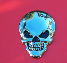 Full Metal Skull - Car Styling - Sticker Decal - 3D-Emblem - Chrom-Optik - Top