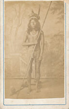 CDV Photo Native America Indian with Blowpipe South America possibly Chile C1875