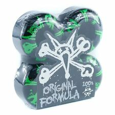 Bones OG 100's #10 V4 Skateboard Wheels Black 52mm Skate New Free Delivery
