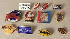 LOT OF 12 PINS - BUGS 50 NIKON 3 TENORS BEATTLES POLICE BADGE TOYOTA PETERBILT