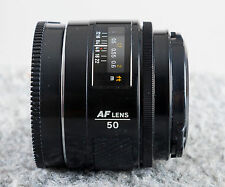 Minolta Maxxum 50mm F1.7 AF Prime Lens.  Sony A Mount    Tested/Guaranteed