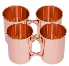 Straight Solid Copper Moscow Mule Mug Set 16 Oz Brown Set Of 4