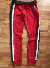 NEW Victoria's Secret Pink Banded Pants Sweatpants Red sz XS