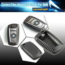 Exact Fit Carbon Fiber Remote Key Fob Shell Holder Cover For BMW 1 3 4 5 6 7