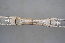 Vintage Indo Persian Mughal Rajput Islamic Silver Damascened Bow Archery Quiver
