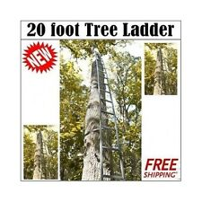 NEW! Hunting Tree Ladder 20 Foot easy get up to Tree stand, 300lbs Capacity
