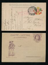 ITALIA WW1 stationery 1916 POSTA francese... MINT lettercard + belle usate CARD