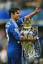CHELSEA HAND SIGNED DIEGO COSTA 12X8 PHOTO PROOF.