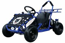 48v 1000 Watt Electric 3 speed Off Road Go Kart for Kids Blue