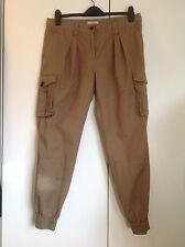 Burberry Brit military style trousers khaki cargo cuff pants, size 12