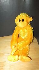 Yellow orange Plush long monkey squeals hangs velcro hands feet Clingin critters