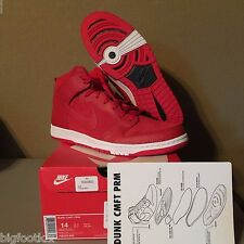 Nike Dunk CMFT PRM 705433 600 University Red White Size 14 Jordan Men's Comfort