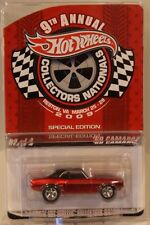 Hot Wheels 9th Nationals/Convention '69 Camaro RED Only 3000 Made Real Riders