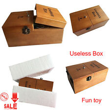 "New Wooden Useless Box ""Leave Me Alone""Interesting Pastime Machine Kit Gift Toys"