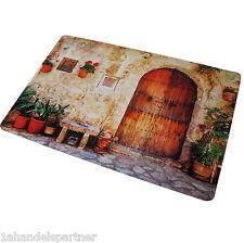 Tischset Platzunterlage Küchen Motiv HOLZ TOR Unterlage Gutshof Mediterran Neu