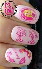 NAIL ART WATER TRANSFERS/STICKER/DECAL BARBIE LOGO/FACE/SUNGLASSES/SHOES/LIPS 19