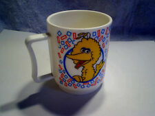 BIG BIRD COOKIE MONSTER PLASTIC MUG/CUP The Muppets,Sesame Street,peter pan ind.