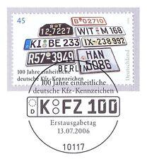 BRD 2006: KfZ-Kennzeichen Nr. 2551 mit dem Berliner Ersttags-Sonderstempel! 1A!