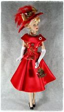 "Red Outfit Hat Purse for Tonner DeeAnna Denton 16"" , Tyler Wentworth  16"" doll"