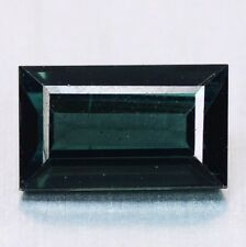1.15 ct Rare Natural Rectangle-cut Blue-Green VVS Indicolite Tourmaline