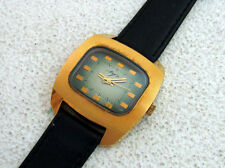 LUCH (Beam) Television Set RAREST VINTAGE USSR RUSSIAN AMAZING GOLD Men's WATCH