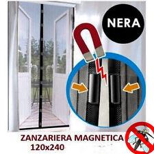 TENDA ZANZARIERA MAGNETICA CON CALAMITA 140 x 240 CM NERA PER PORTA BALCONE