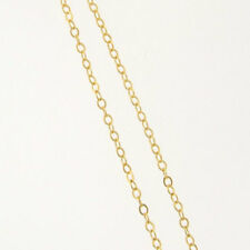 16 Inch 14k Gold Filled 1.6mm Flat-Round Cable Chain Necklace, Made in USA