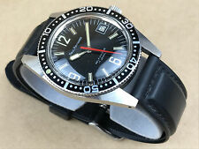 Paul Raynard Self Winding 17 Jewel Black Face Mens Vintage German Watch - Nice