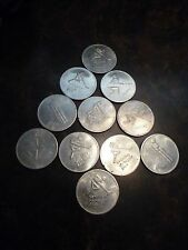 LOT OF 11 COINS FROM OLYMPIC TRUST OF CANADA ICE HOCKEY, HOCKEY, LUGE FREE SHIP