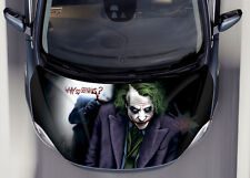 Joker Car Hood Wrap Full Color Vinyl Sticker Decal Fit Any Car