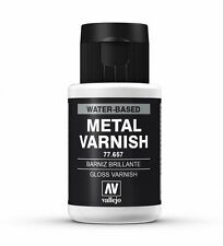 Vallejo Metal Colores-Aerógrafo Pintura-Brillo Metal Barniz 32ml - 77.657