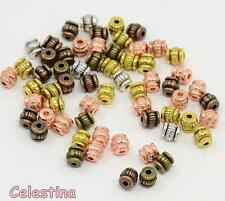 25 Spacer Beads Metal Bronze Rose Gold Silver 5mm Mixed Colour  Bead SP115